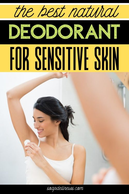 Woman applying deodorant to armpits