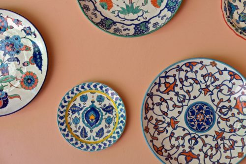 decorative hand painted plates with patterns