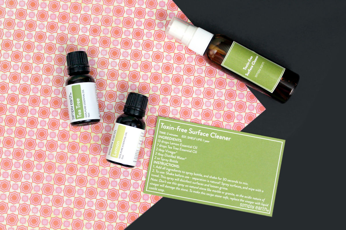 DIY All Purpose Cleaner with Essential Oils for a Non-Toxic Clean. Discover how to make a simple DIY all purpose cleaner with essential oils. It's a safe, non-toxic way to clean your home that can also save you money. An easy recipe for a green friendly cleaner, this easy, 4-ingredient DIY all purpose cleaner is a simple way to add essential oils to your natural cleaning routine for a healthy, chemical free home. Plus discover six more non-toxic cleaning recipes you make using essential oils.
