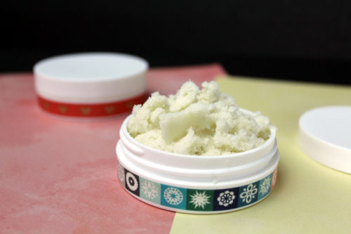 DIY lip scrub. An easy self idea for winter skin care and natural beauty.