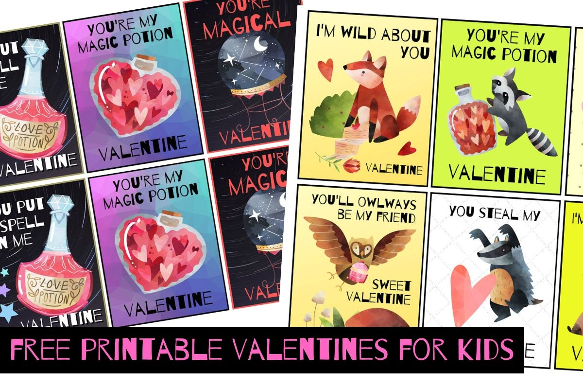 Free printable valentines cards for kids and kids at heart. The cutest free printable valentines for kids (and kids at heart!) for Valentine's Day. Get ready for Valentine's Day with this adorable collection of free printable valentines featuring woodland creatures and magical delights for all ages. Read on to discover a number of printable valentines that you can download and print for free -- both for kids and a few for adults as well!