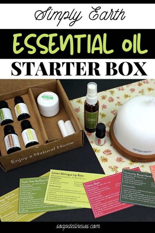 Simply Earth essential oil recipe box. Learn about Simply Earth's essential oil starter box. Your first box in the monthly essential oil subscription that includes natural essential oils and ingredients to make natural homemade products for health, home and beauty.