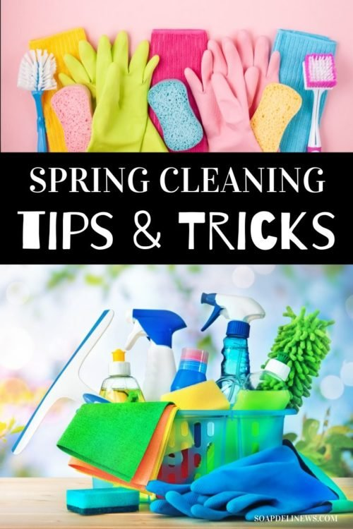 Spring Cleaning Tips: How to Naturally Clean & Declutter Your Home. Get your home in order this spring with these easy spring cleaning tips and tricks, plus ideas for decluttering your home and utilizing natural cleaners. Check out my best, eco-friendly spring cleaning tips to help you get your butt in gear and start the new season off right! And learn how to make your own homemade cleaner recipes and natural cleaning products for a healthy home as part of your non-toxic lifestyle. #springclean
