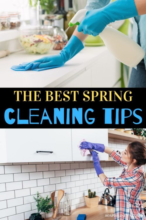 Easy Spring Cleaning Tips plus eco-friendly, non-toxic homemade cleaner recipes. Get your home in order this spring with these easy spring cleaning tips and tricks, plus ideas to declutter your home & recipes for natural cleaning products. The best eco-friendly spring cleaning hacks, how to make your own homemade cleaner recipes and natural cleaning products to try for a healthy home as part of your non-toxic lifestyle. Get your spring clean on today with these cleaning hacks, tips & tricks.