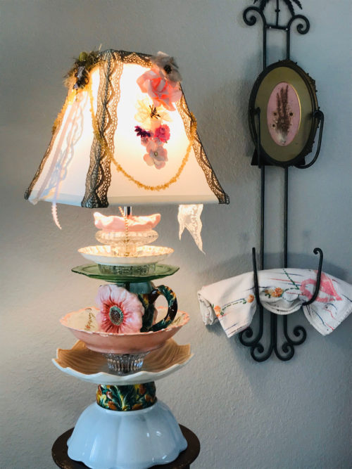 Upcycled teacup lamp from DAUSnGLO on etsy