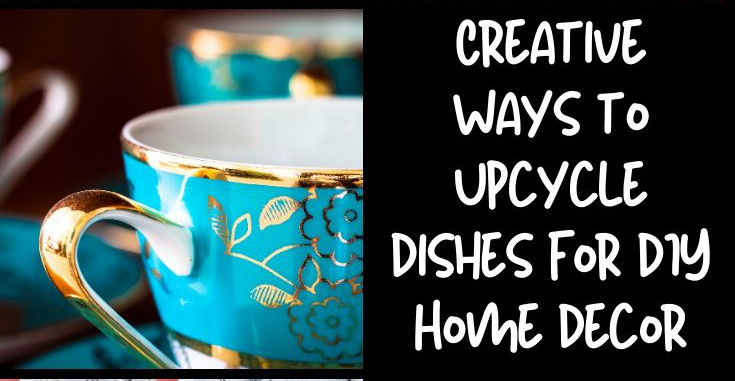 Creative Ways to Upcycle Dishes with Decorative Lead Paint for DIY Home Decor on a Budget. Don't toss your vintage dishes with decorative lead paint. Try one of these creative ways to upcycle dishes instead to create unique, DIY home decor and garden art! While no longer deemed safe for eating, you don't have to toss your favorite vintage dishes. Instead try one of these creative ways to upcycle dishes with lead paint to create unique, DIY home decor!