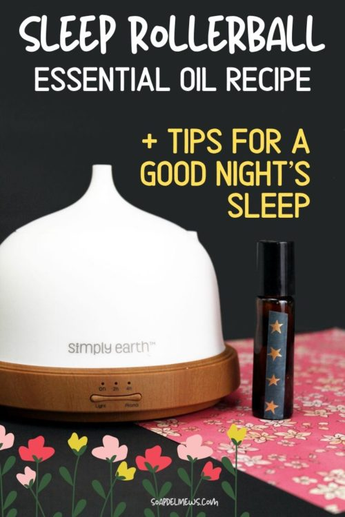 Sleep Rollerball Recipe: Essential Oil Blend for Sleep. An easy 2-ingredient DIY sleep rollerball recipe with a simple essential oil blend for sleep. A natural way to promote restful sleep, this kid safe essential oil blend for insomnia can be used if pregnant or nursing. Plus tips on how to get a good night's sleep by simply changing a few of your daily habits. Kick your insomnia for good with this natural sleep remedy that uses aromatherapy to promote sleep.