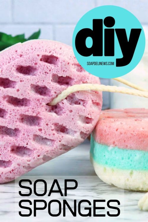 DIY soap sponge. Learn how to make this easy melt and pour soap recipe for DIY soap sponges to add to your skin care routine for natural beauty. This beginner soap recipe for making a DIY soap sponge is a great way to exfoliate and cleanse skin while also helping to reduce plastic waste as it enables you to chuck those plastic body wash bottles. If you're looking to go zero waste, then try this DIY soap making tutorial to use as part of your daily skin care routine for beautiful glowing skin.
