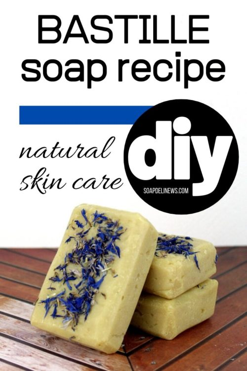 Bastille Soap Recipe. How to make cold process Bastille soap. This hydrating Bastille soap recipe won't strip your skin and dry out your hands through repeated hand washings like liquid soap does. Learn the benefits of homemade Bastille soap, how it's made and how you can use DIY Bastille soap when hand washing with soap and water to help prevent flu transmission and infection. Plus tips for washing hands the right way to remove germs.