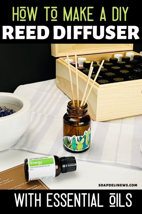DIY reed diffuser with essential oils. Learn how to make a DIY reed diffuser with essential oils to naturally scent your home with your favorite, non-toxic fragrance. You can use any essential oil or essential oil blend of your choice with your homemade reed diffuser. Or try one of 6 DIY reed diffuser essential oil recipes to lighten and brighten your mood. Plus learn how to make reed diffuser refills with essential oils. Get started making reed diffusers for your healthy home today!
