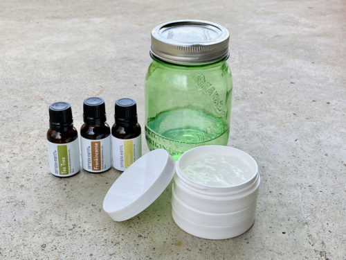 DIY hand sanitizer with alcohol and immune boosting essential oils. Make an effective, 2-ingredient DIY hand sanitizer that contains 60% alcohol for use as a protective measure against the flu virus with two essential oil blends for immune support. Two ways to make a homemade hand sanitizer recipe using either isopropyl alcohol or 150 proof vodka for natural health and wellness when hand washing isn't an option to fight cold and flu viruses when other alternatives aren't available.