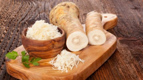 horseradish for making traditional fire cider vinegar recipe as a natural home remedy for cold and flu relief
