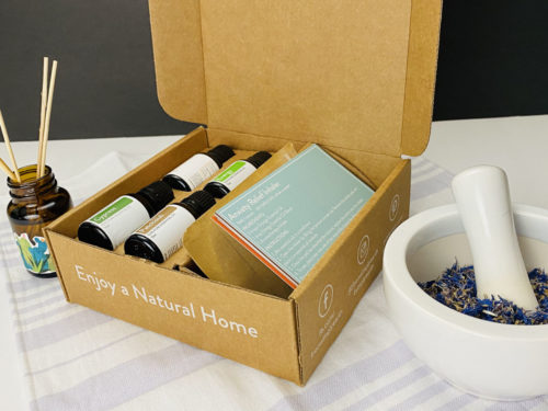 Inside the Simply Earth Essential Oil Recipe Box