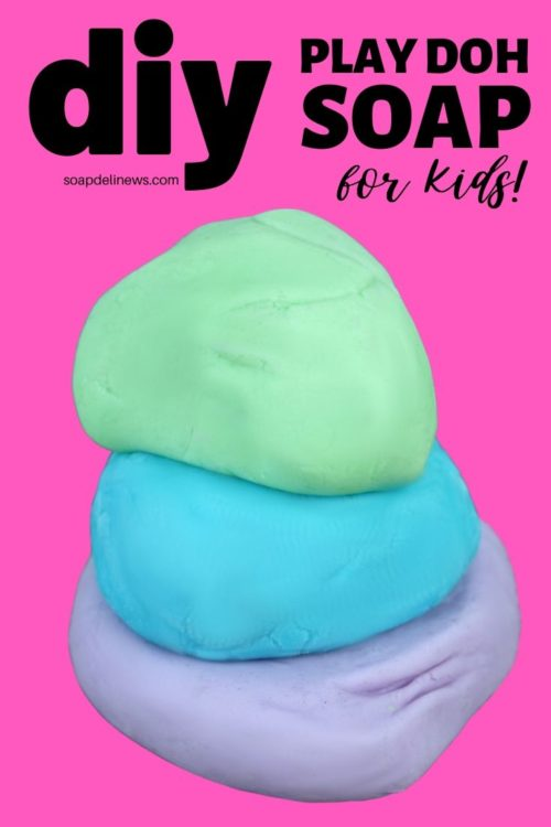 Play Doh Soap Recipe. A fun kids crafts projects idea for kids bored at home. Make hand washing and bath time fun with this DIY soap play doh recipe made with liquid Castile soap. This DIY play dough soap is easy to make, and older kids can even make it themselves. Scent this fun homemade soap dough with kid safe essential oils for aromatherapy fun at bath time. A creative, kid-approved rainy day craft project for homeschool and bored kids.