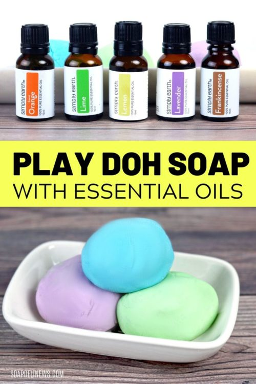 Play Dough Soap Recipe for Kids. Learn how to make play dough soap as a fun DIY kids crafts projects idea for kids bored at home. Make hand washing and bath time fun with this play dough bath soap recipe made with liquid Castile soap. This DIY play dough bath soap is easy to make, and older kids can make it themselves. Scent this fun homemade soap dough with kid safe essential oils for aromatherapy fun at bath time. A creative rainy day craft project for homeschool projects and bored kids.