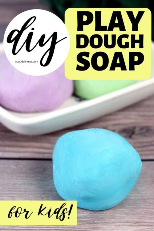 Play Dough Soap Recipe. A fun kids crafts projects idea for kids bored at home. Make hand washing and bath time fun with this DIY soap play dough recipe with liquid Castile soap. This DIY play doh soap is easy to make, and older kids can even make it themselves. Scent this fun homemade soap dough with kid safe essential oils for aromatherapy fun at bath time. A creative, kid-approved rainy day craft project for homeschool and bored kids.