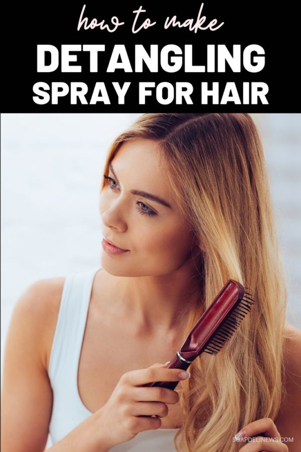 How to Make a Simple Detangling Spray Recipe with Essential Oils for Natural Hair Care. Best beauty tips for natural plant-based hair care as part of your daily beauty regimen. If your hair is long or knots easily, getting a brush or comb through it can be a challenge. A DIY hair detangler is a simple, easy way to detangle hair naturally. This simple detangling spray recipe for hair is naturally scented with kids safe essential oils, is easy to make and requires just four basic ingredients.