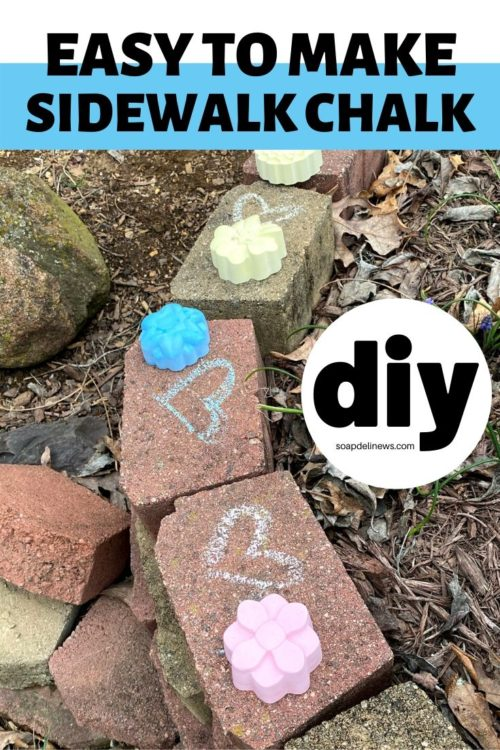 Kids sidewalk chalk DIY. Quick and easy kids craft idea for hours of fun playing. Enjoy sidewalk chalk kids activities or make sidewalk chalk art for a family fun activities everyone can enjoy. An easy DIY sidewalk chalk tutorial that uses just 3-ingredients - water, plaster of Paris and mica powder. You'll craft your own colored sidewalk chalk that's ready in about 30-minutes for tons of unplugged kids activities that are fun when you need things to do when bored.