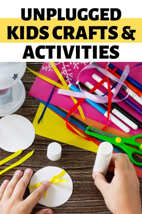 Unplugged Kids Crafts & Activities. Creative things for kids to do when bored at home. 30+ ideas for kids crafts and family fun activities to create when you're stuck at home. Learn how to make DIY kids sidewalk chalk using plaster plus my favorite kids activities I enjoyed when I was growing up before the internet even existed. Lots of fun and easy DIY ideas that allow kids to explore their creativity and learn new skills.