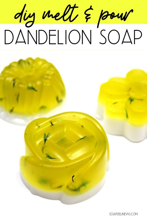 How to make an easy melt and pour dandelion soap recipe for beginners with essential oils for your everyday skin care routine for natural beauty. This DIY dandelion soap is a simple way to incorporate dandelion infused oil into your daily beauty regimen. A green beauty recipe perfect for beginners to get started making their own natural skin care products. Learn about the health and skin care benefits of dandelion and discover melt and pour soap tips and tricks.