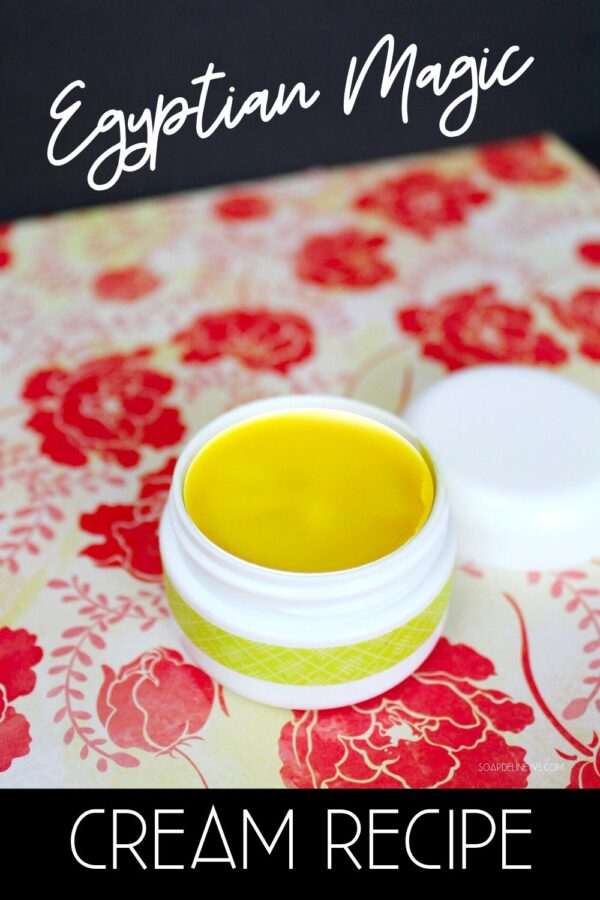 How to make DIY Egyptian Magic Cream (dupe) for your natural beauty routine. Discover the uses and benefits of Egyptian Magic Cream and learn how to make your own DIY Egyptian Magic Cream Recipe as a best beauty tip for natural skin care, natural hair care and natural beauty. A magical all purpose beauty balm and hair treatment, this homemade salve recipes moisturizes and nourishes skin,tames frizzy hair and acts as a DIY cleansing balm to magically melt off makeup and promote skin health.
