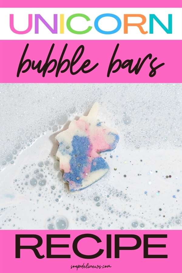How to make bubble bars. These DIY unicorn bubble bars make bath time fun and colorful! Formulated with essential oils and moisturizing shea butter, DIY bubble bars produce lots of foam and bubbles and release a relaxing natural fragrance. The easy bath and body tutorial shows how to make, store, and use solid bubble bath bars for a fun bath time treat with three fun unicorn essential oil blends to scent your homemade bubble bars. An easy solid bubble bath recipe for Lush lovers to make at home.