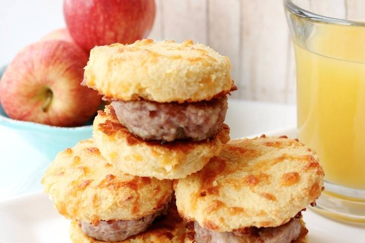 Keto Sausage Biscuits Recipe Low Carb Breakfast Idea Without Eggs