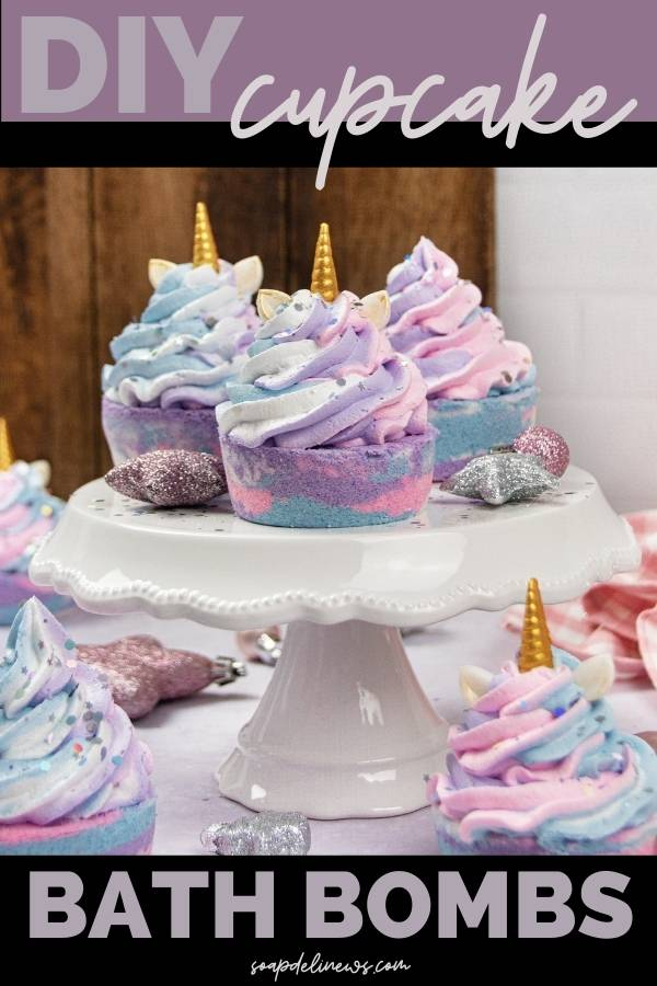 diy unicorn cupcake bath bombs