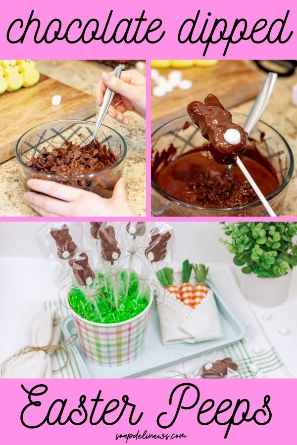 how to make chocolate dipped peeps easter treats (1)