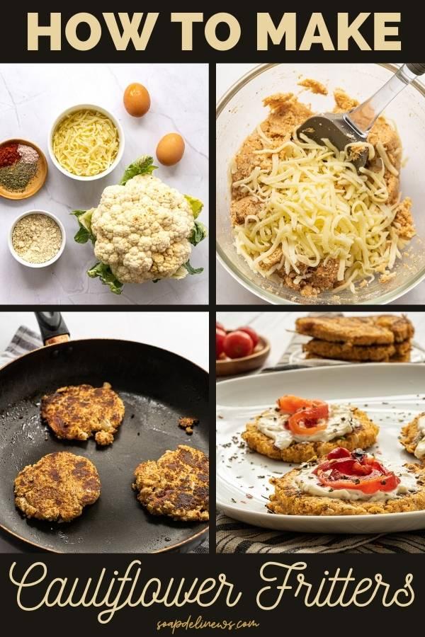 how to make cauliflower fritters
