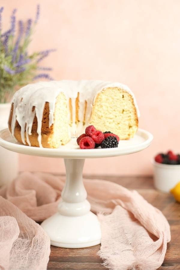 lemon pound cake with ginger drizzle